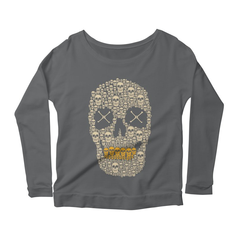 Gold Digger Skeleton Women's Longsleeve Scoopneck  by blackboxshop's Artist Shop