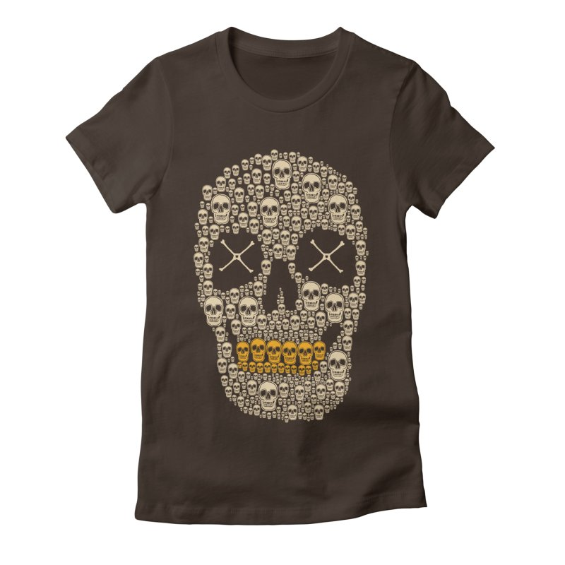 Gold Digger Skeleton Women's Fitted T-Shirt by blackboxshop's Artist Shop