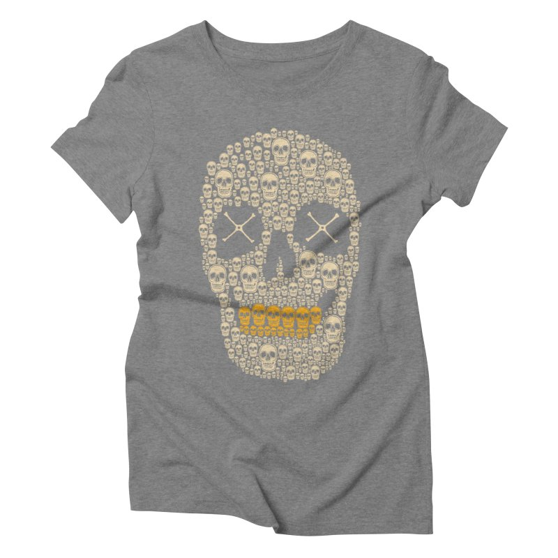 Gold Digger Skeleton Women's Triblend T-shirt by blackboxshop's Artist Shop