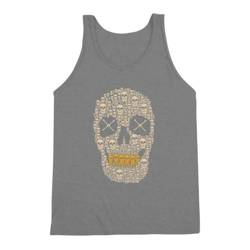 Gold Digger Skeleton Men's Triblend Tank by blackboxshop's Artist Shop