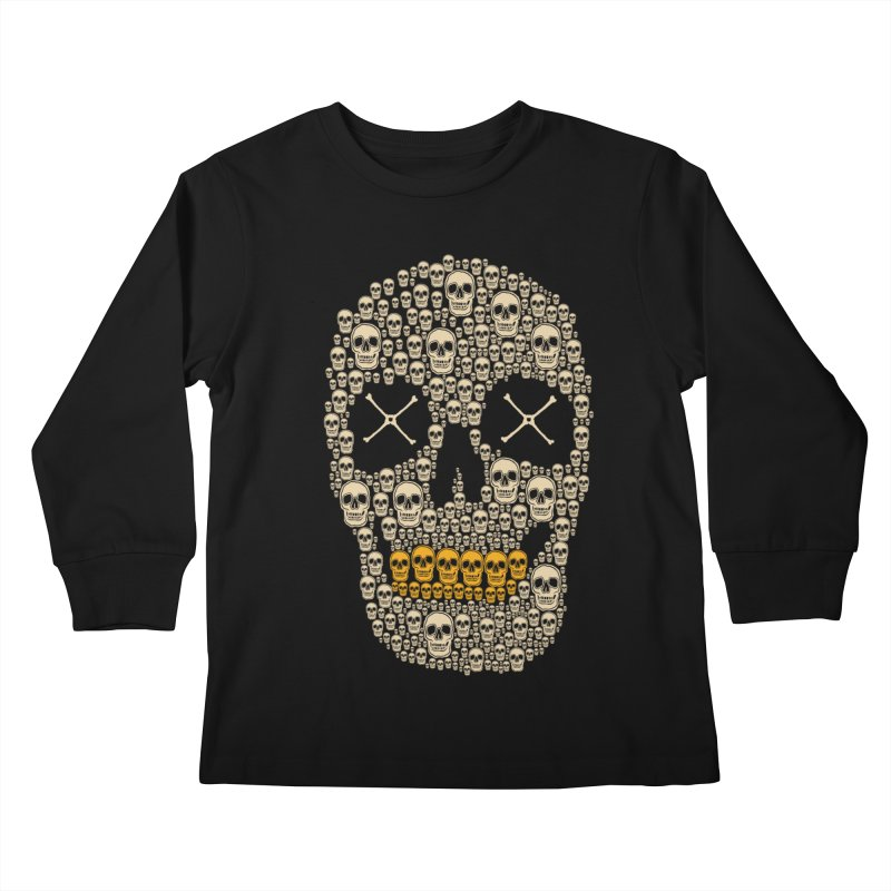 Gold Digger Skeleton Kids Longsleeve T-Shirt by blackboxshop's Artist Shop