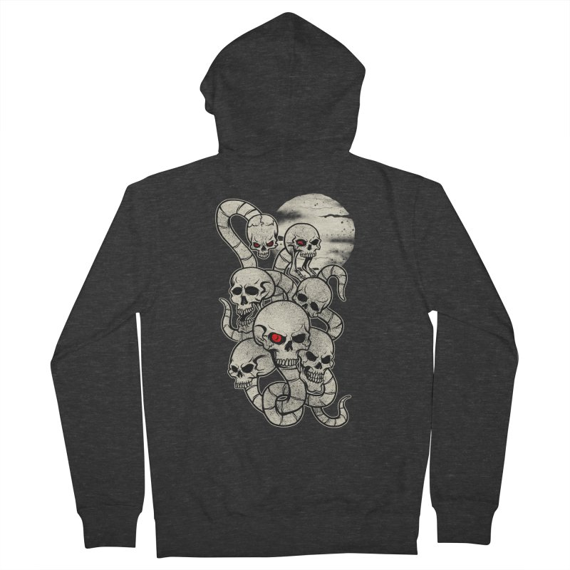 River monsters skeleton heads Women's Zip-Up Hoody by blackboxshop's Artist Shop