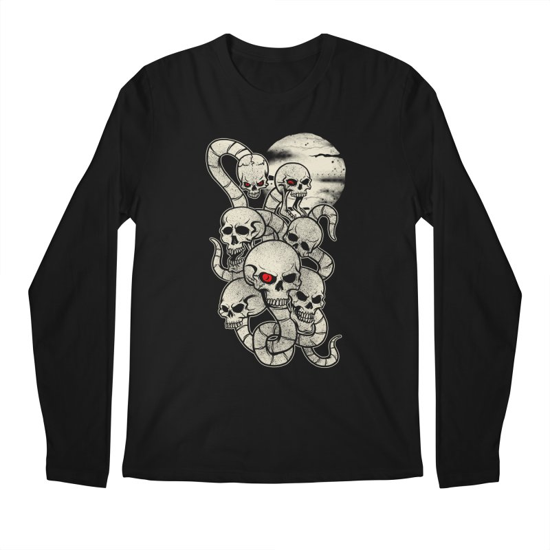 River monsters skeleton heads Men's Longsleeve T-Shirt by blackboxshop's Artist Shop