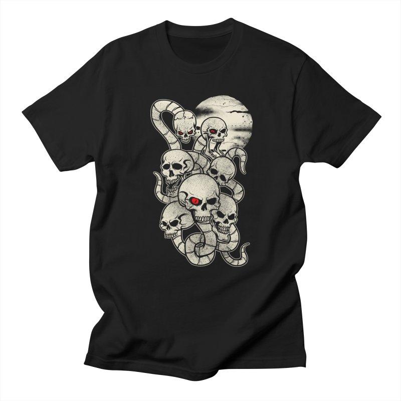 River monsters skeleton heads Men's T-shirt by blackboxshop's Artist Shop