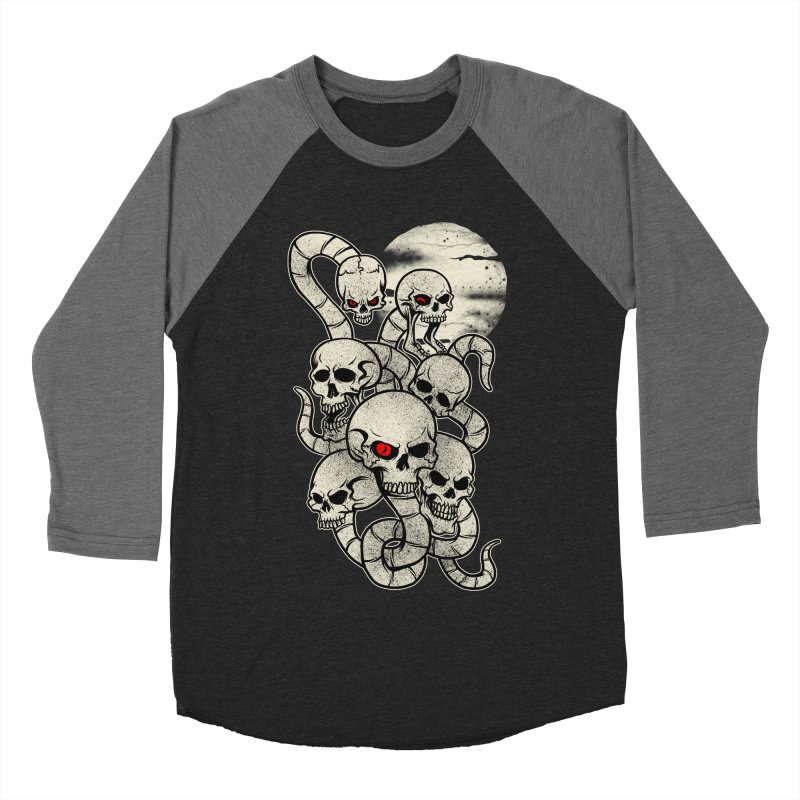 River monsters skeleton heads Women's Baseball Triblend T-Shirt by blackboxshop's Artist Shop
