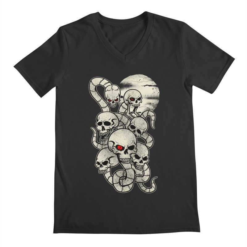 River monsters skeleton heads Men's V-Neck by blackboxshop's Artist Shop
