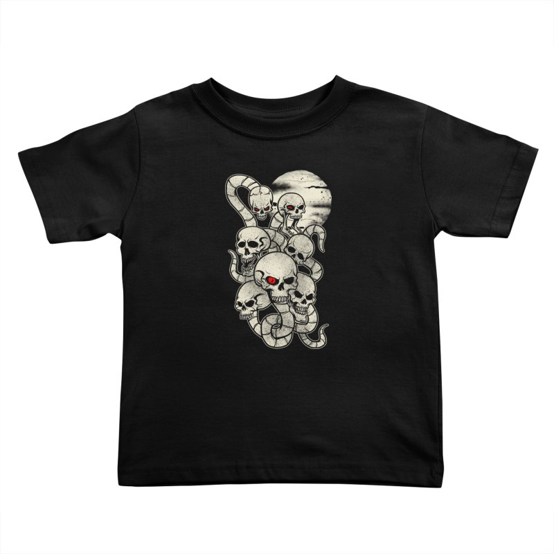 River monsters skeleton heads Kids Toddler T-Shirt by blackboxshop's Artist Shop