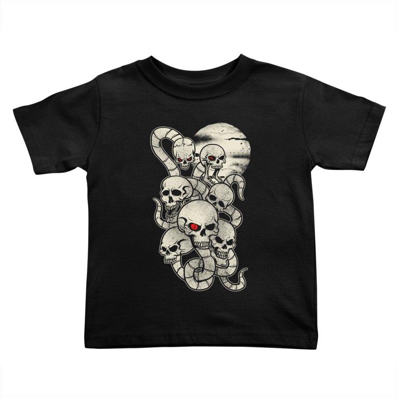 River monsters skeleton heads Kids Toddler T-Shirt by blackboxshop's Artist Shop