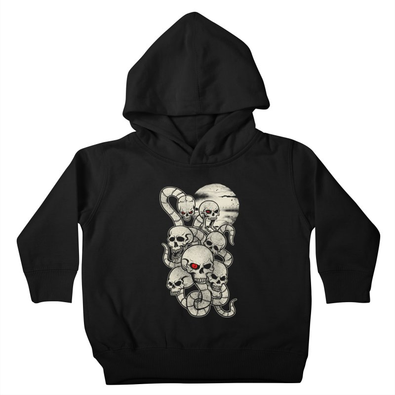 River monsters skeleton heads Kids Toddler Pullover Hoody by blackboxshop's Artist Shop