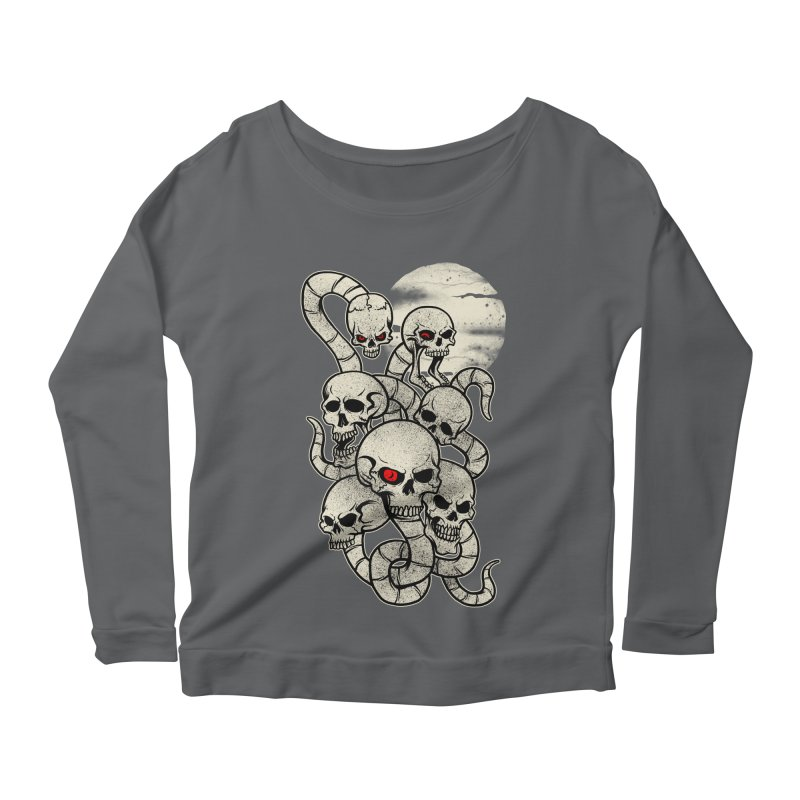 River monsters skeleton heads Women's Longsleeve Scoopneck  by blackboxshop's Artist Shop