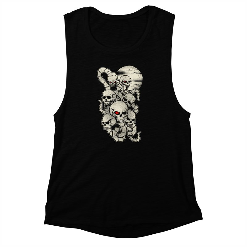 River monsters skeleton heads Women's Muscle Tank by blackboxshop's Artist Shop