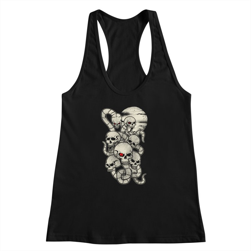 River monsters skeleton heads Women's Racerback Tank by blackboxshop's Artist Shop