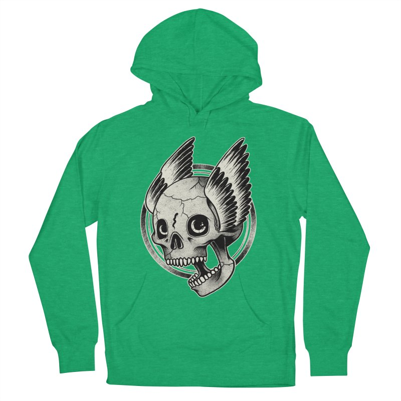 Skull Wings Women's Pullover Hoody by blackboxshop's Artist Shop