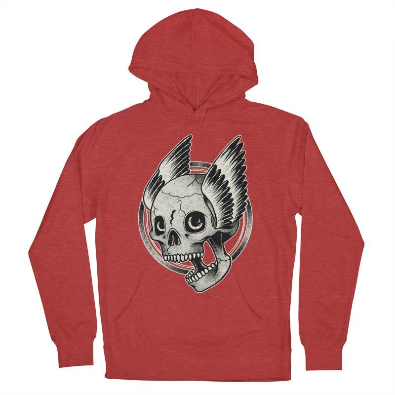 Skull Wings Women's Pullover Hoody by blackboxshop's Artist Shop