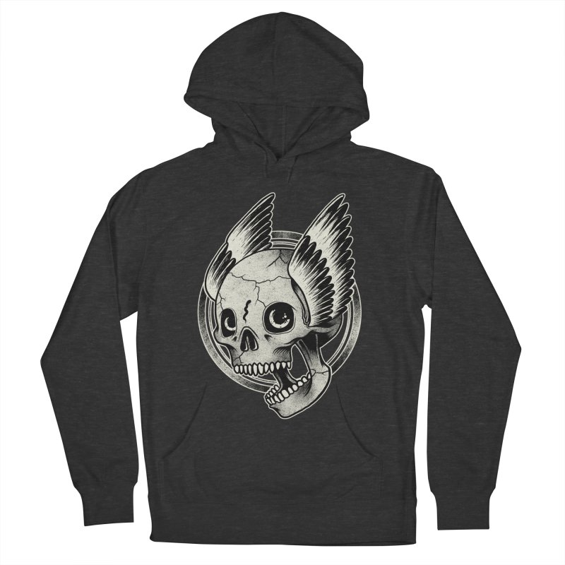 Skull Wings Men's Pullover Hoody by blackboxshop's Artist Shop
