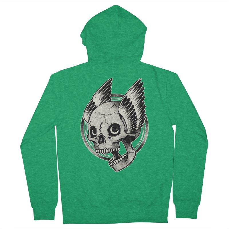 Skull Wings Women's Zip-Up Hoody by blackboxshop's Artist Shop