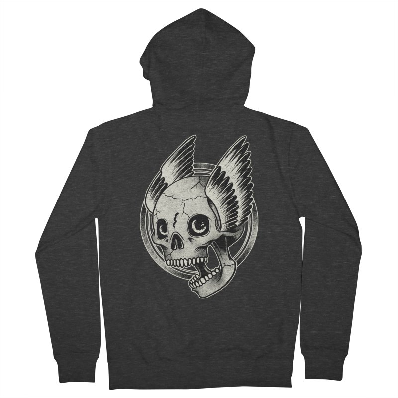 Skull Wings Women's Zip-Up Hoody by blackboxshop's Artist Shop