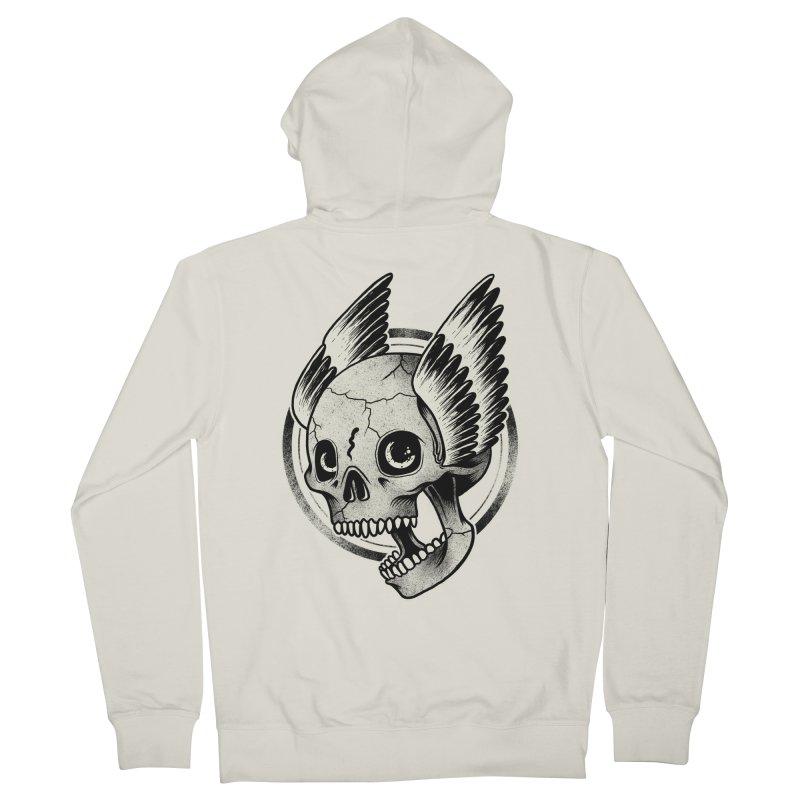Skull Wings Men's Zip-Up Hoody by blackboxshop's Artist Shop