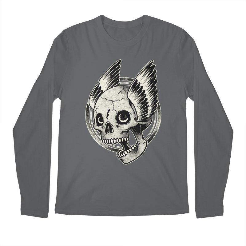 Skull Wings Men's Longsleeve T-Shirt by blackboxshop's Artist Shop