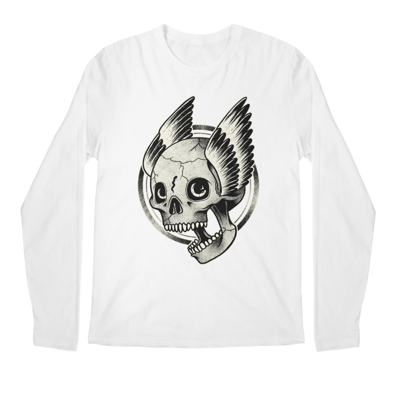 Skull Wings Men's Longsleeve T-Shirt by blackboxshop's Artist Shop
