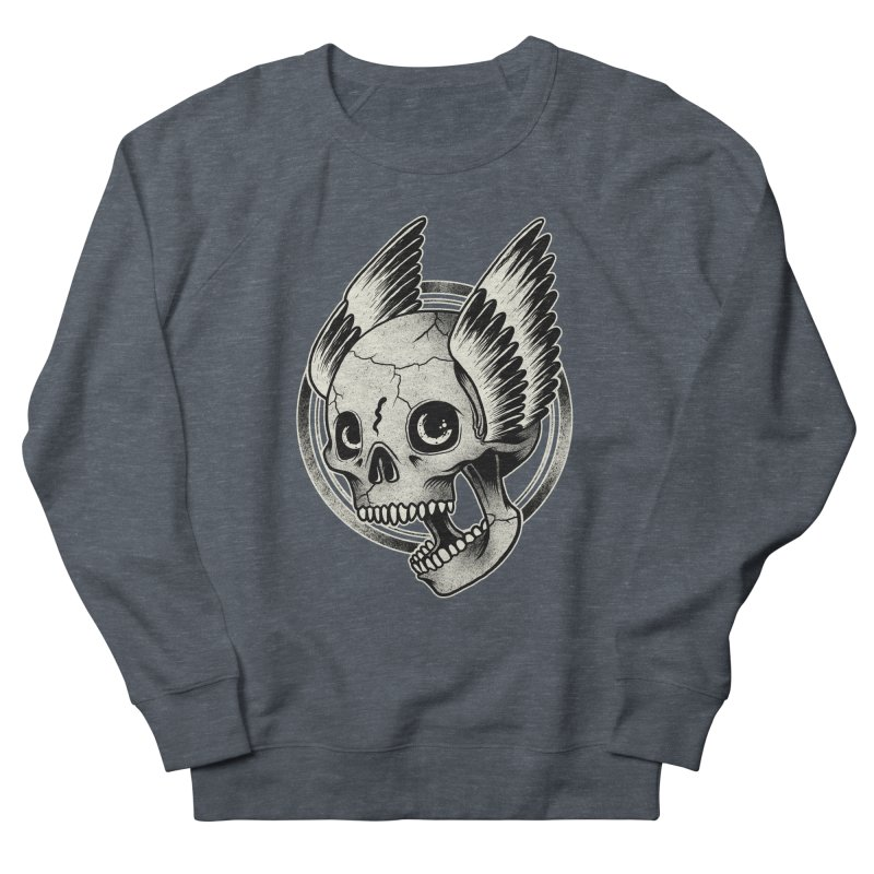 Skull Wings Women's Sweatshirt by blackboxshop's Artist Shop