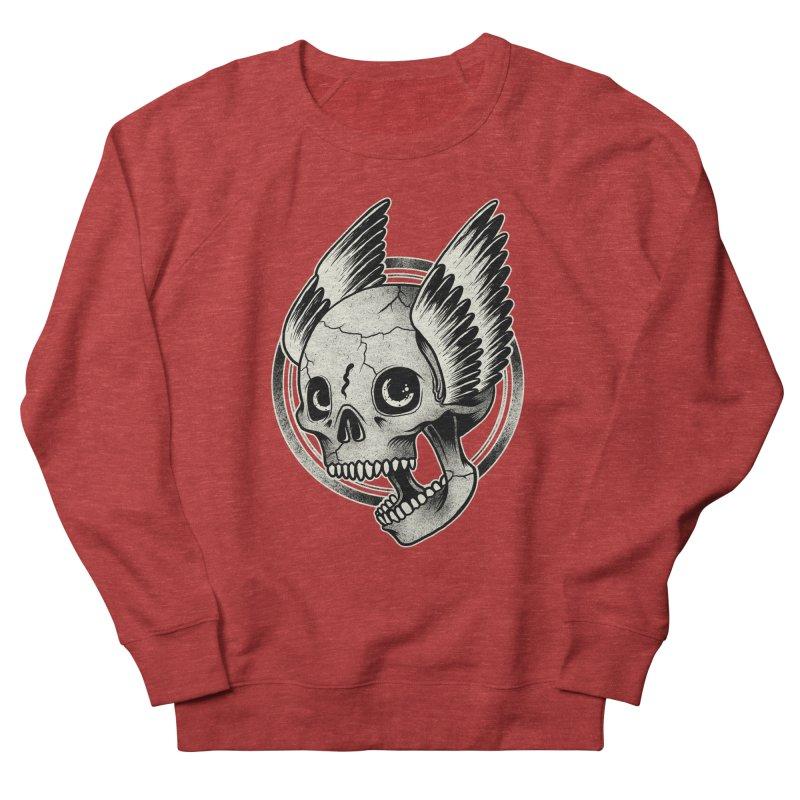 Skull Wings Men's Sweatshirt by blackboxshop's Artist Shop