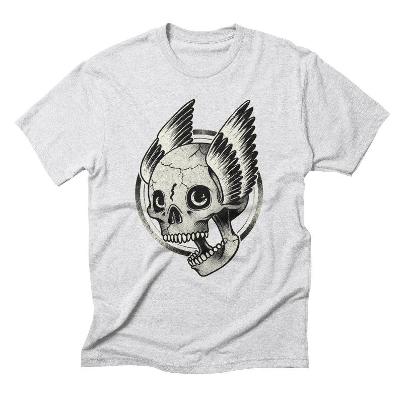 Skull Wings Men's Triblend T-Shirt by blackboxshop's Artist Shop