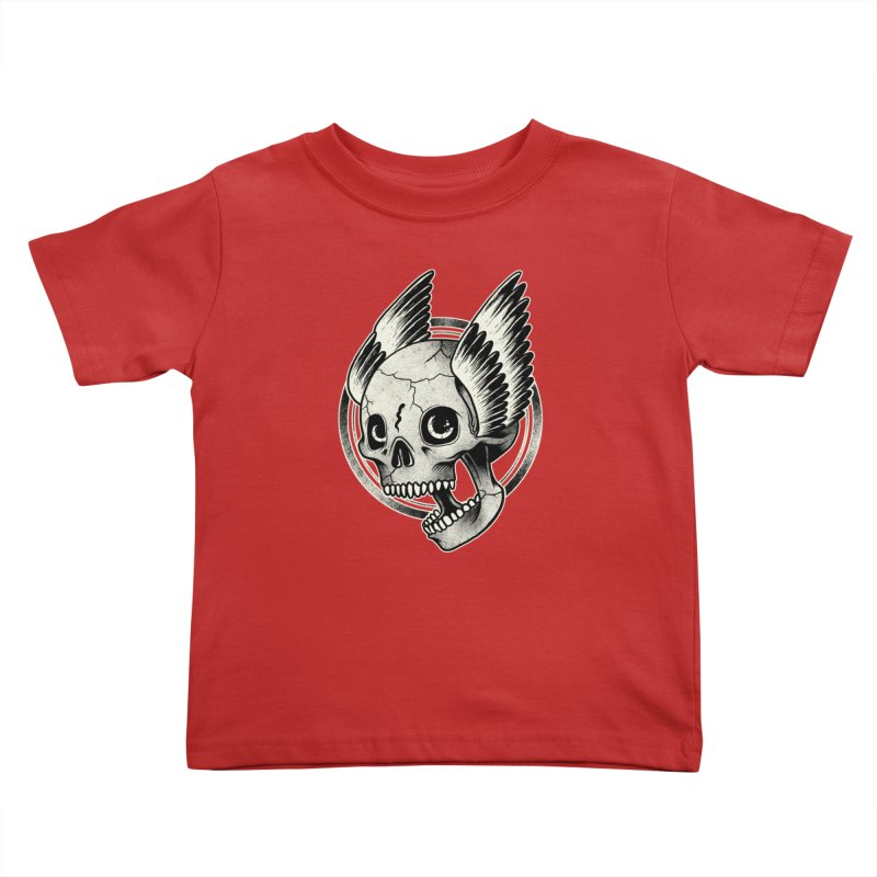 Skull Wings Kids Toddler T-Shirt by blackboxshop's Artist Shop
