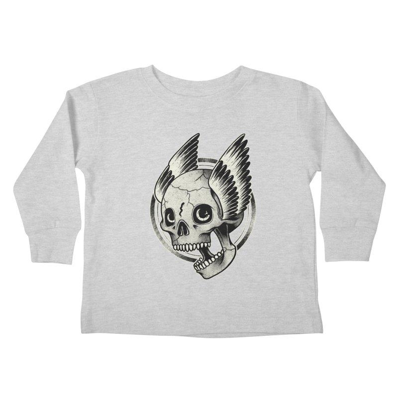 Skull Wings Kids Toddler Longsleeve T-Shirt by blackboxshop's Artist Shop