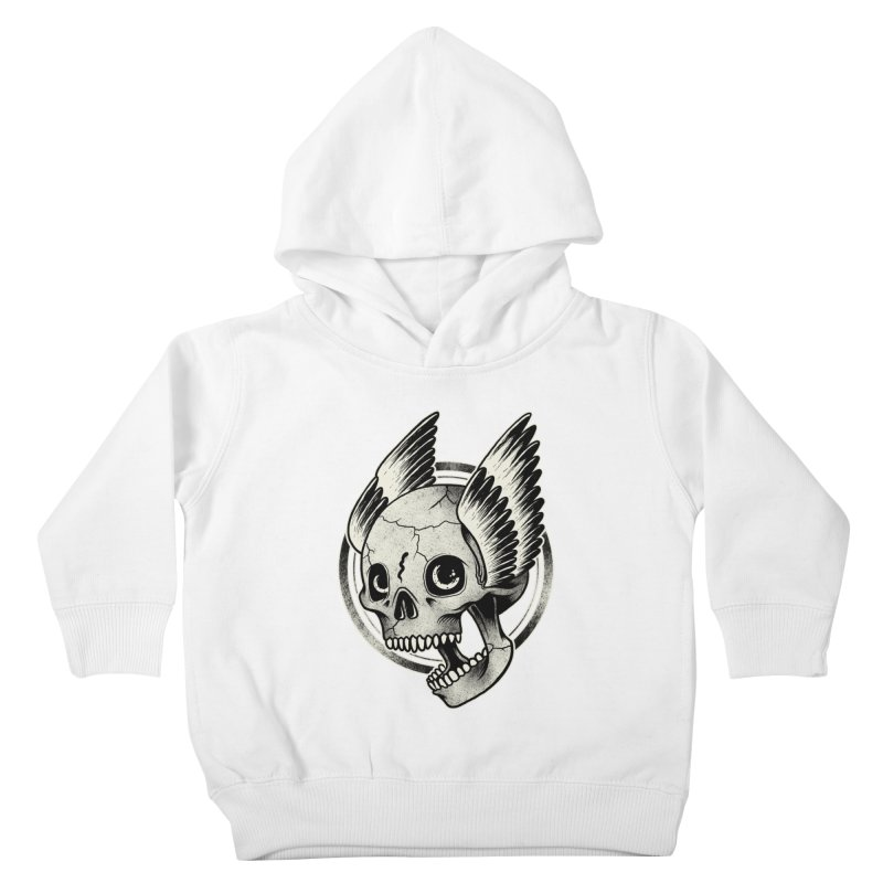 Skull Wings Kids Toddler Pullover Hoody by blackboxshop's Artist Shop