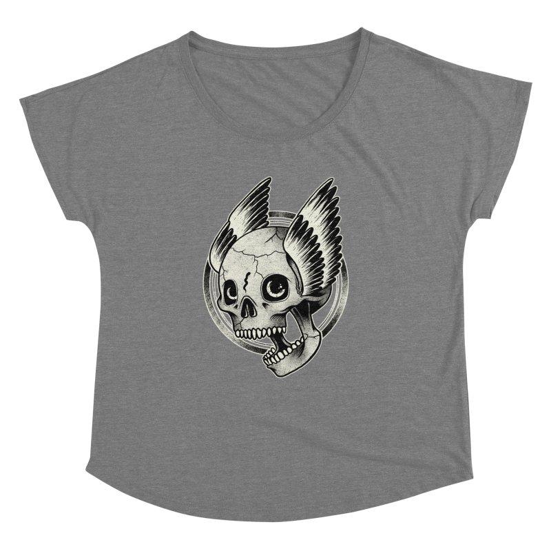 Skull Wings Women's Dolman by blackboxshop's Artist Shop