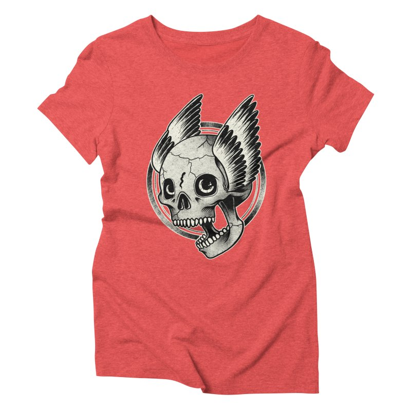 Skull Wings Women's Triblend T-shirt by blackboxshop's Artist Shop