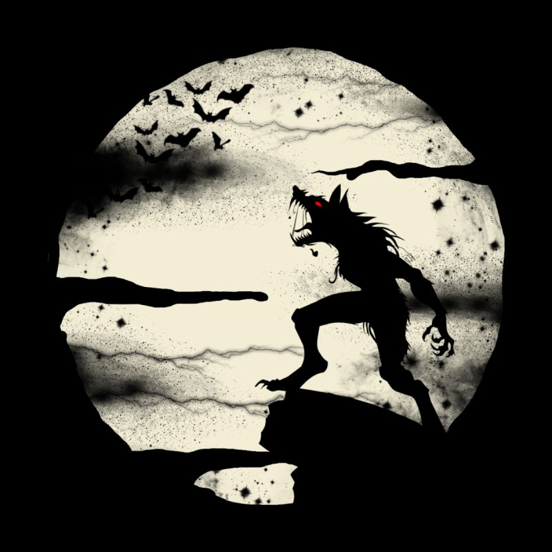 Werewolf fullmoon  None  by blackboxshop's Artist Shop