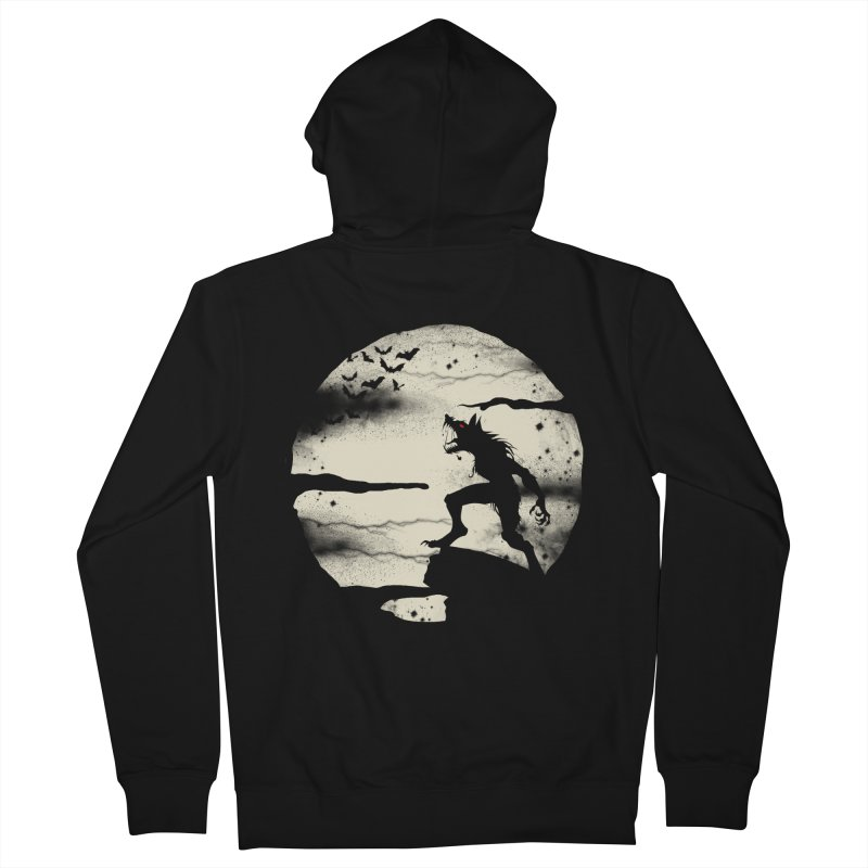 Werewolf fullmoon  Women's Zip-Up Hoody by blackboxshop's Artist Shop