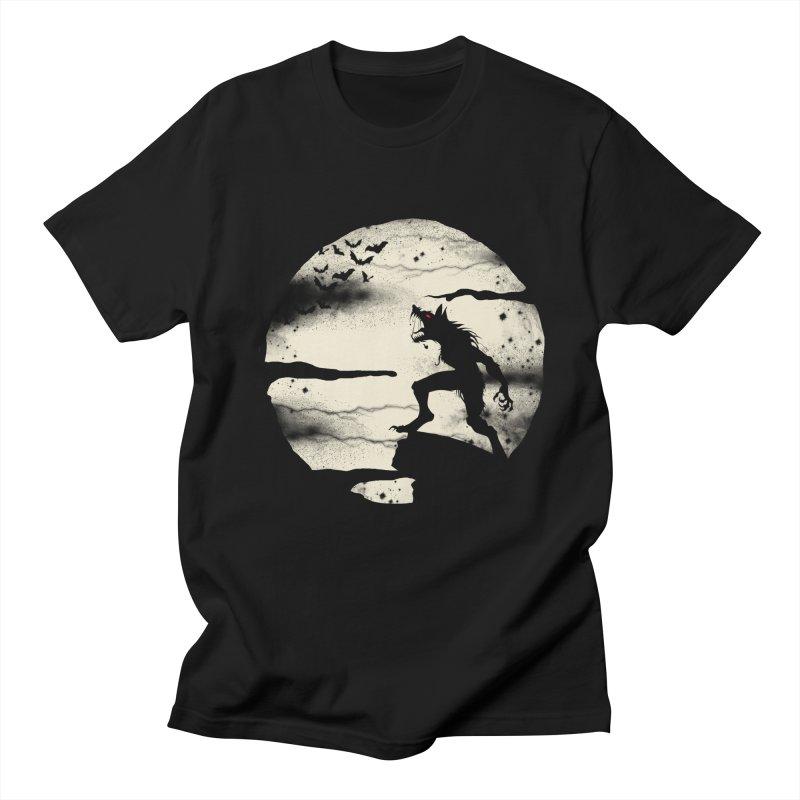 Werewolf fullmoon  Men's T-Shirt by blackboxshop's Artist Shop