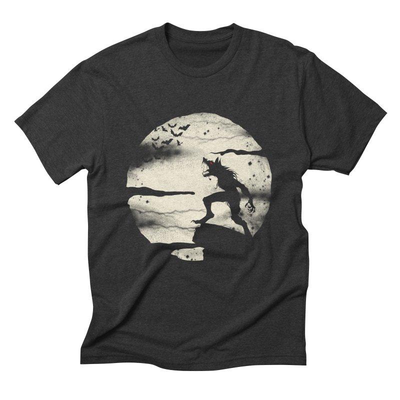 Werewolf fullmoon  Men's Triblend T-Shirt by blackboxshop's Artist Shop