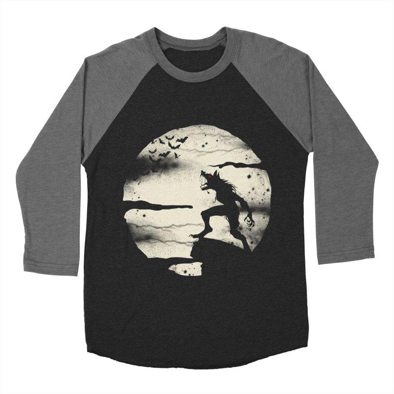 Werewolf fullmoon  Women's Baseball Triblend T-Shirt by blackboxshop's Artist Shop