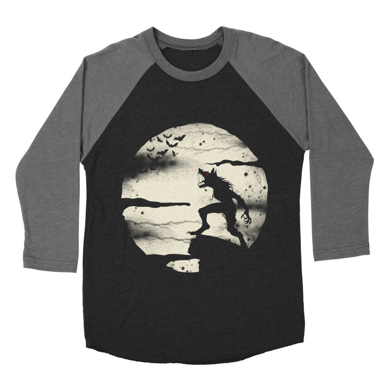 Werewolf fullmoon  Men's Baseball Triblend T-Shirt by blackboxshop's Artist Shop