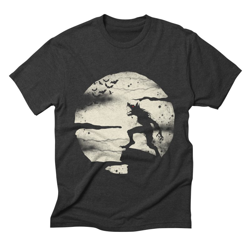 Werewolf fullmoon  Men's Triblend T-shirt by blackboxshop's Artist Shop