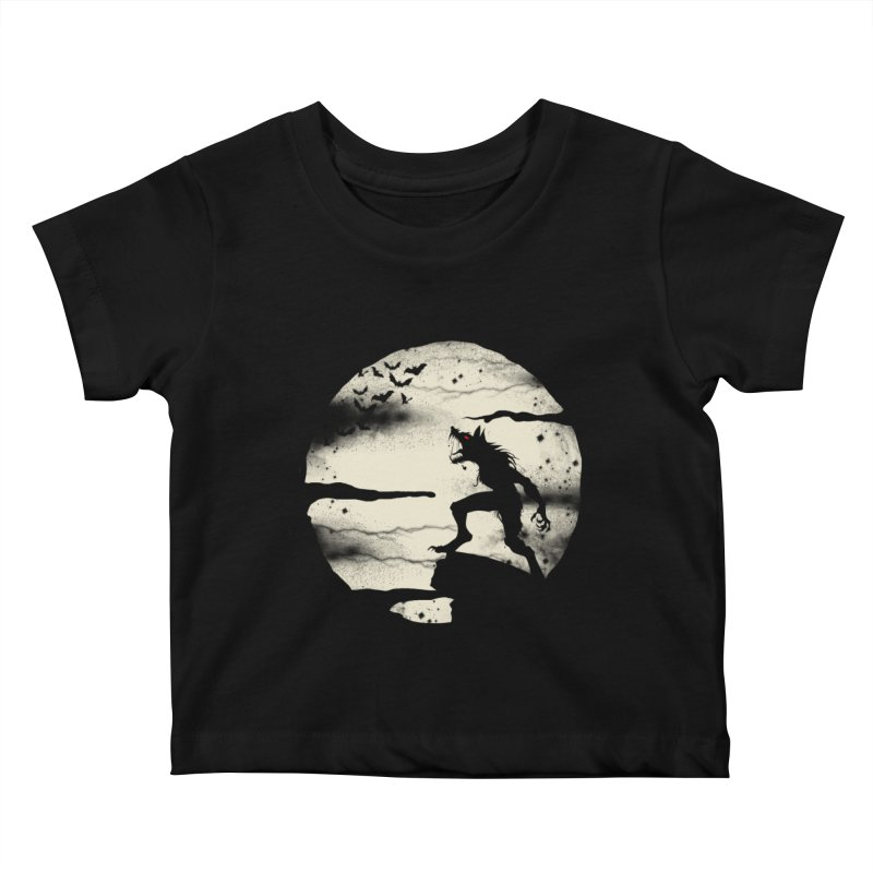 Werewolf fullmoon  Kids Baby T-Shirt by blackboxshop's Artist Shop