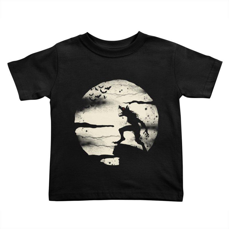 Werewolf fullmoon  Kids Toddler T-Shirt by blackboxshop's Artist Shop