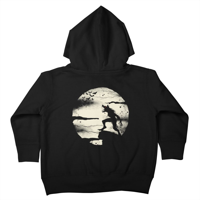 Werewolf fullmoon  Kids Toddler Zip-Up Hoody by blackboxshop's Artist Shop