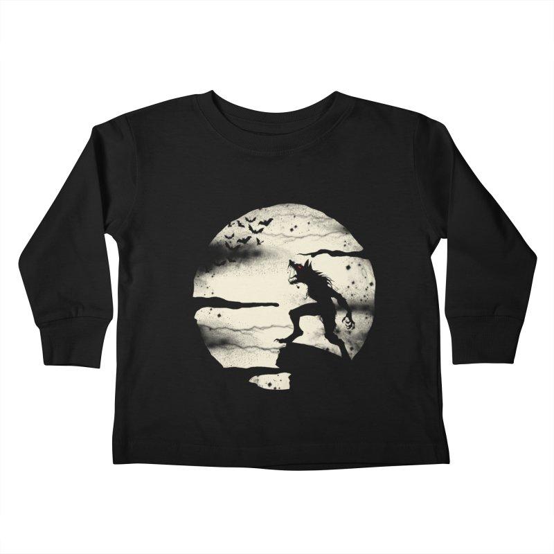 Werewolf fullmoon  Kids Toddler Longsleeve T-Shirt by blackboxshop's Artist Shop