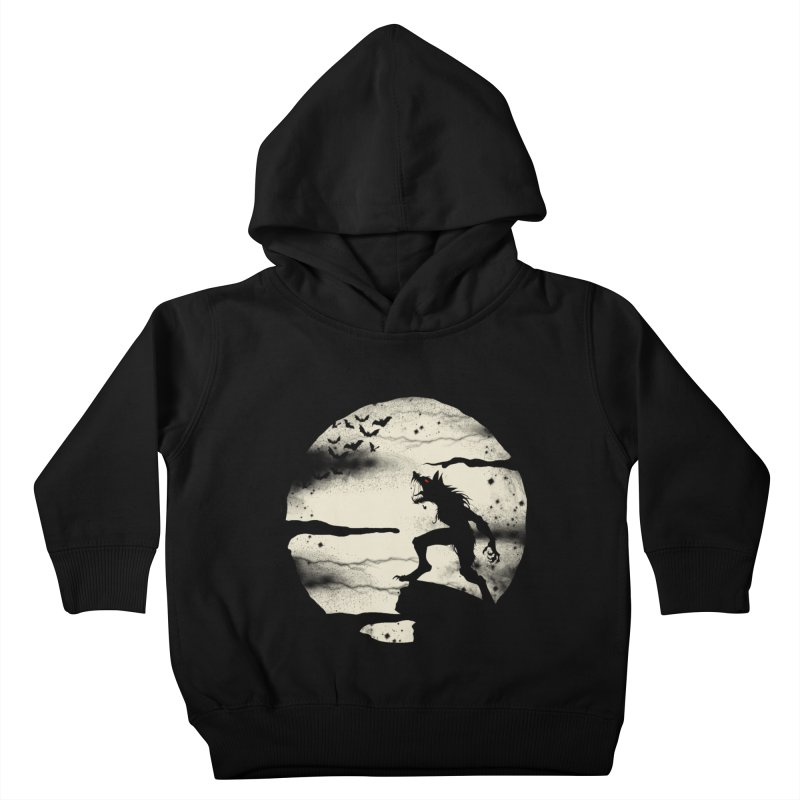 Werewolf fullmoon  Kids Toddler Pullover Hoody by blackboxshop's Artist Shop