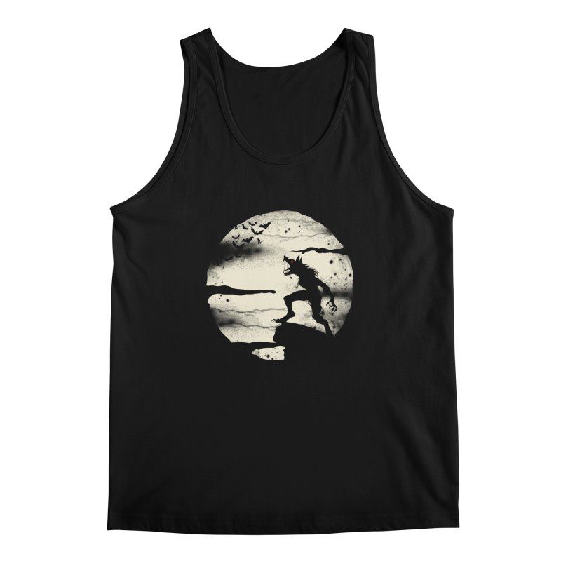 Werewolf fullmoon  Men's Tank by blackboxshop's Artist Shop