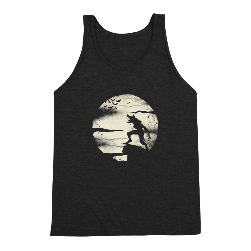 Werewolf fullmoon  Men's Triblend Tank by blackboxshop's Artist Shop