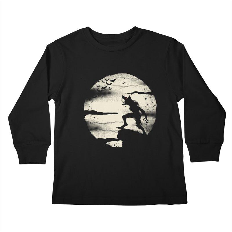 Werewolf fullmoon  Kids Longsleeve T-Shirt by blackboxshop's Artist Shop