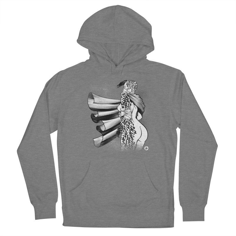 Hieroglyphic Grrl Men's Pullover Hoody by Black Fly Press Official Merchandise