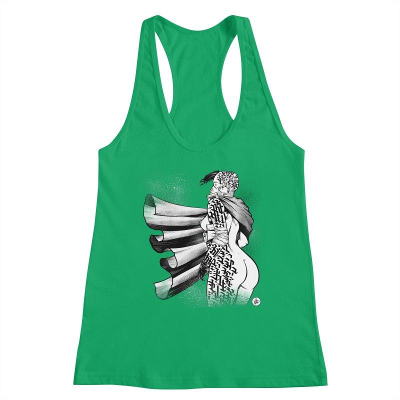 Hieroglyphic Grrl Women's Tank by Black Fly Press Official Merchandise
