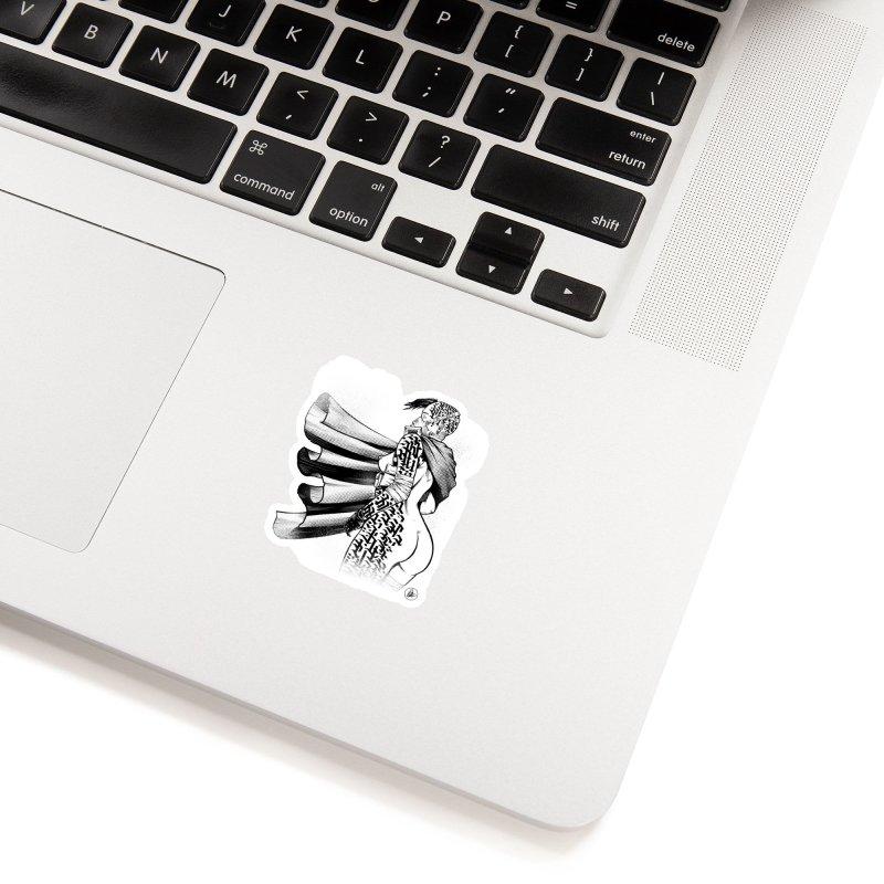 Hieroglyphic Grrl Accessories Sticker by Black Fly Press Official Merchandise
